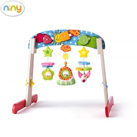 Darbības centrs Niny Eco Wood Baby Gym 700027, 56 cm x 45 cm