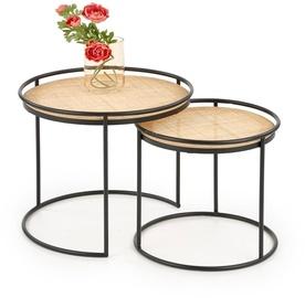 Журнальный столик Halmar Manado Coffee Tables Natural/Black (поврежденная упаковка)