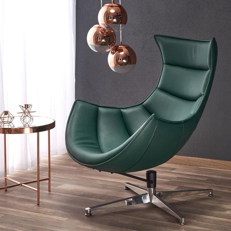 Atzveltnes krēsls Halmar Luxor Green, 84x86x96 cm