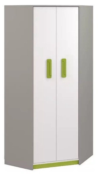 ML Meble Q 01 Corner Wardrobe Green