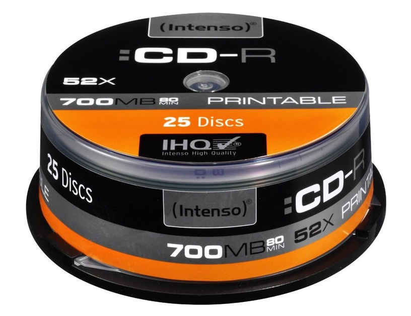 Intenso CD-R 52X 700MB Printable 25P Spindle
