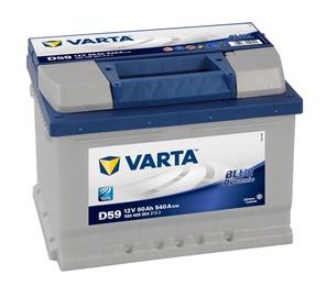 Akumulators Varta BD D59, 60 Ah, 540 A, 12 V