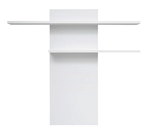 Black Red White Fever Wall Shelf White