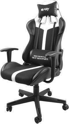 Spēļu krēsls Natec Fury Avenger XL, balta/melna