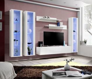Dzīvojamās istabas mēbeļu komplekts ASM Fly C2, balta