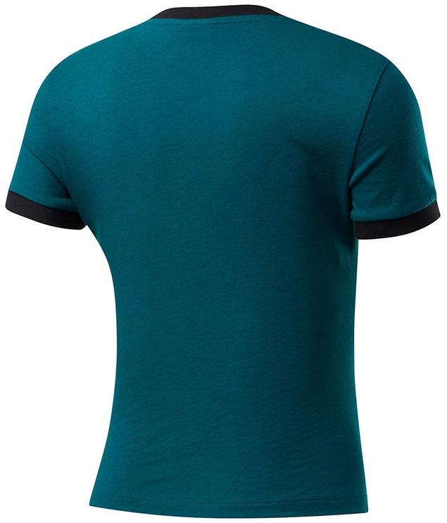 Reebok Womens Training Essentials Linear Logo Slim Shirt FK6679 Green S