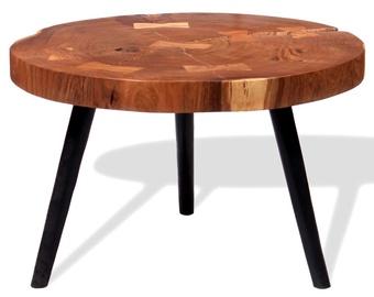 Kafijas galdiņš VLX Solid Acacia Wood 243957, brūna/melna, 550 - 600 mm x 550 mm x 400 mm
