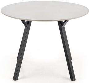 Pusdienu galds Halmar, melna/pelēka, 1000 mm x 1000 mm x 740 mm