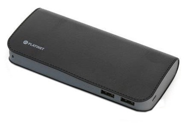 Platinet Luxury Leather Power Bank 11000mAh Black