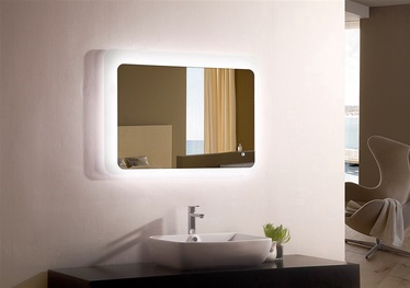 Spogulis Masterjero YJ-2521I, ar gaismu, stiprināms, 90x70 cm