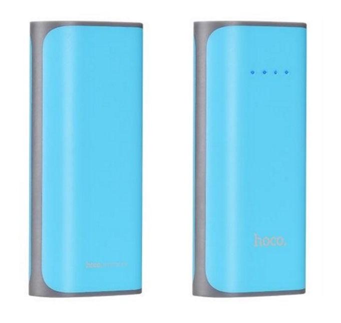 Ārējs akumulators Hoco Premium Tiny Concave Blue, 5200 mAh