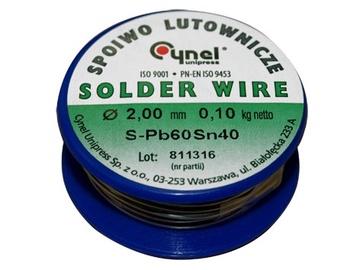 Cynel Unipress Solder Wire SN40 2mm 100g