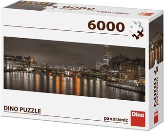 Puzle Dino Panoramic London At Night, 6000 gab.