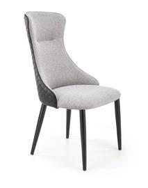 Ēdamistabas krēsls Halmar K434, melna/gaiši pelēka