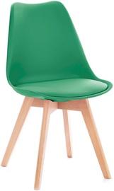 Ēdamistabas krēsls Homede Tempa Dark Green, 4 gab.
