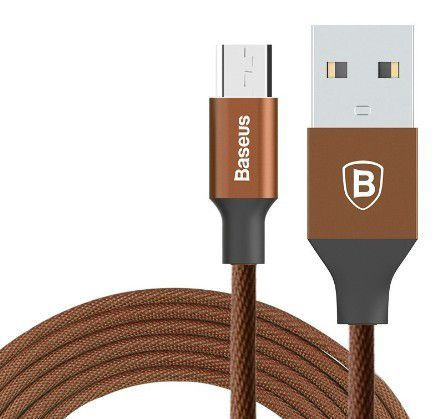 Baseus Yiven USB To Micro USB Cable 1m Brown