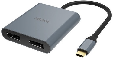 Akasa USB Type-C to Dual DisplayPort MST Adapter