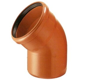 Wavin Sewer Elbow Pipe PVC Brown 45° 160mm