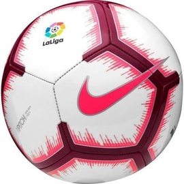 Nike La Liga Pitch Football FA18 White/Red Size 5