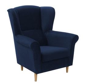 Atzveltnes krēsls Idzczak Meble Loft 1 Dark Blue, 88x80x105 cm
