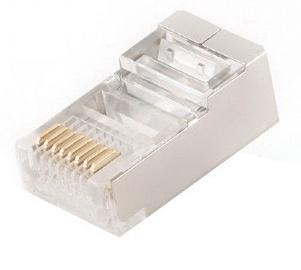 Gembird Shielded Modular Plug Gold Plated x 10
