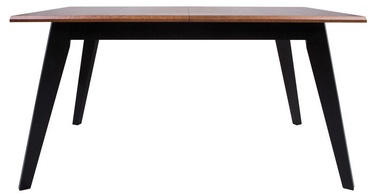 Pusdienu galds Black Red White Madison Brown Oak/Black, 1500x900x770 mm