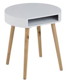Kafijas galdiņš Home4you Ela White/Brown, 400x355x440 mm
