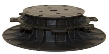 SN Adjustable Pedestal 50-80mm Black 18pcs