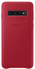 Samsung Leather Cover For Samsung Galaxy S10 Red
