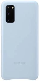 Samsung Leather Back Case For Samsung Galaxy S20 Plus Sky Blue