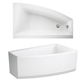 Bathtub asymm virgo max right150x90+legs