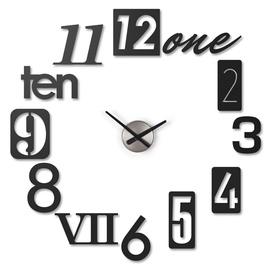 Sienas un interjera pulkstenis Umbra Numbra Wall Clock Black