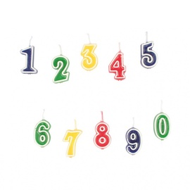 Dzimšanas dienas svece (-s) Amscan Set Of Numeral Candles 0-9 552155