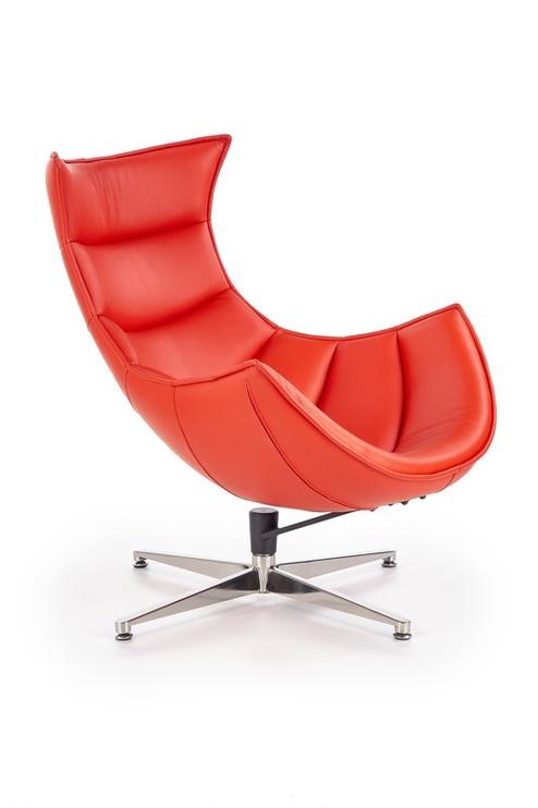 Atzveltnes krēsls Halmar Luxor, sarkana, 84x86x96 cm