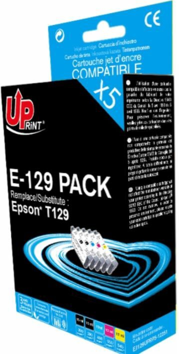 Uprint Cartridge for Epson 15ml x2 + 12ml x3 Color