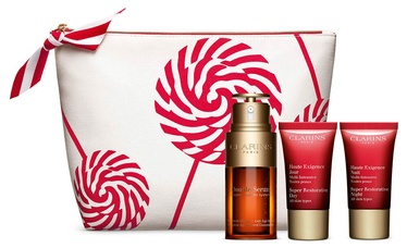 Clarins Double Serum And Super Restorative 4pcs Set