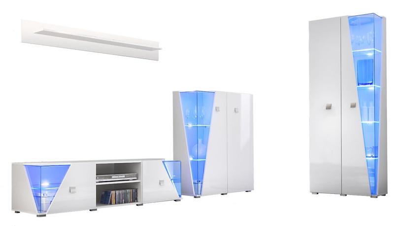 ASM Edge Living Room Wall Unit Set White