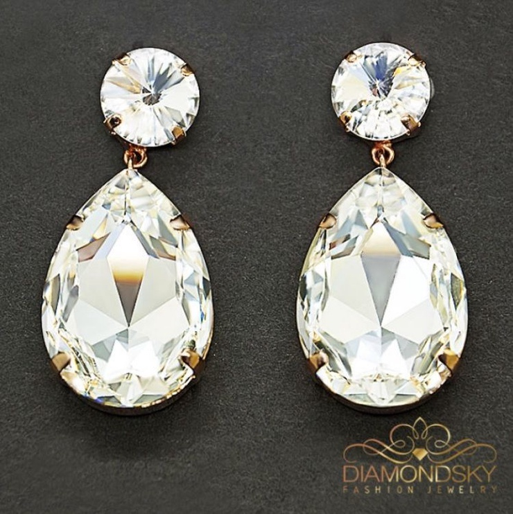Diamond Sky Earrings With Crystals From Swarowski Heavenly Drop IV