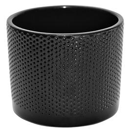 Горшок кер DOMOLETTI, WALEC KROPKI, Ø 15 cm, цвет чёрный