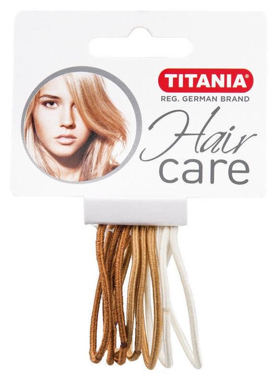 Titania Hair Bands 9pcs Light Brown