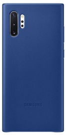 Samsung Leather Back Case For Samsung Galaxy Note 10 Plus Blue