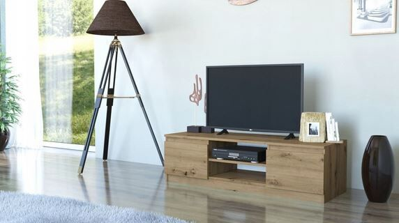 ТВ стол Top E Shop 120 Artisan, дубовый, 1200x400x360 мм