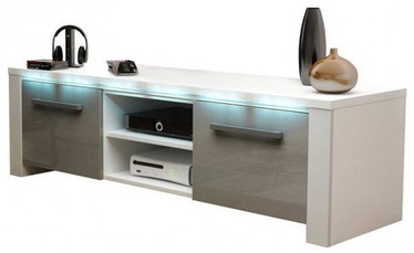 ТВ стол Vivaldi Meble Manhattan White/Grey Gloss, 1400x422x400 мм