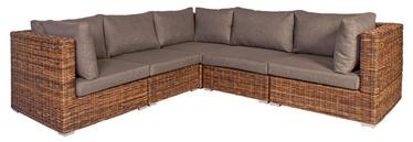 Садовый диван Home4you Croco, коричневый