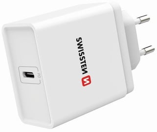Swissten Smart IC Premium USB Type-C Travel Charger White