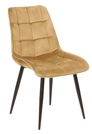 Ēdamistabas krēsls Signal Meble Chic Velvet Curry, 1 gab.