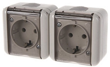 REML 229217200 Double Socket Gray