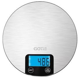 Электронные кухонные весы Gotie GWK-100, серебристый