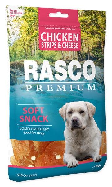 Rasco Dog Premium Snacks Chicken Strips & Cheese 80g