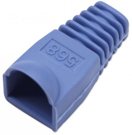 Intellinet Cable Boot For RJ45 Plugs Blue 10pcs
